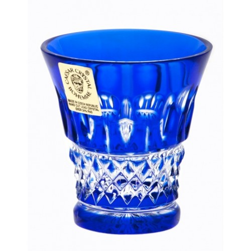 Tomy kristálypohár, kék színű, űrmértéke 45 ml