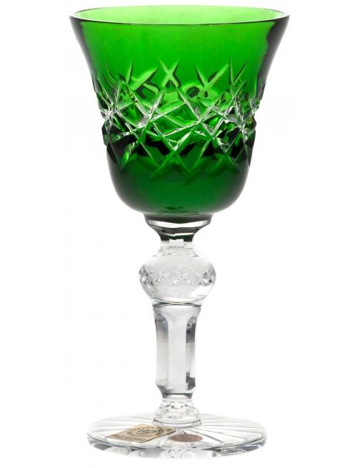 Hoarfrost kristálypohár, zöld színű, űrmértéke 50 ml