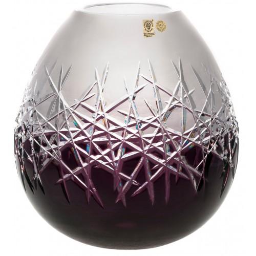 Hoarfrost kristályváza, lila színű, magassága 280 mm