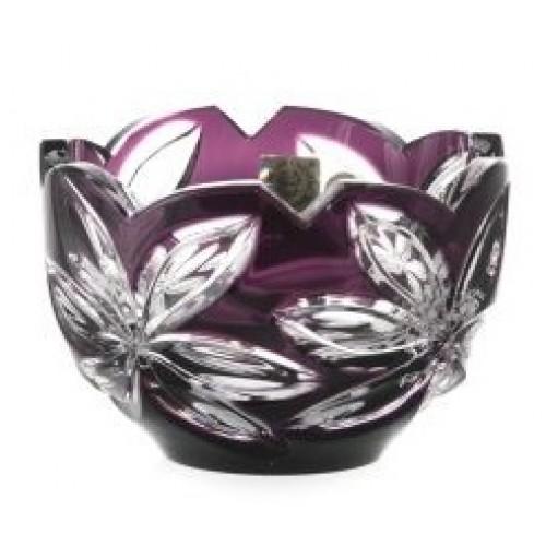 Linda kristálytálka, lila színű, átmérője 110 mm