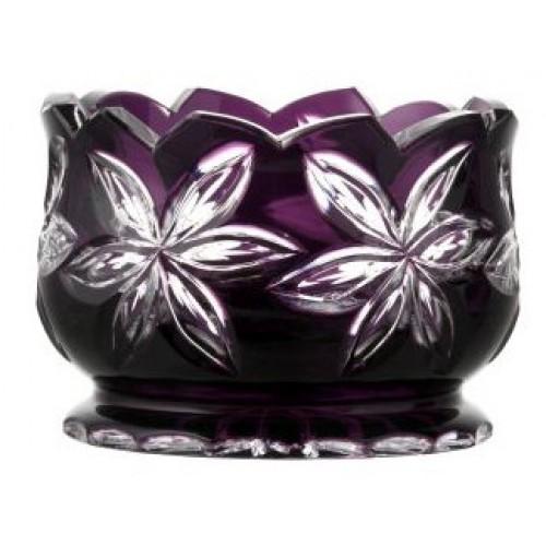 Linda kristálytál, lila színű, átmérője 160 mm