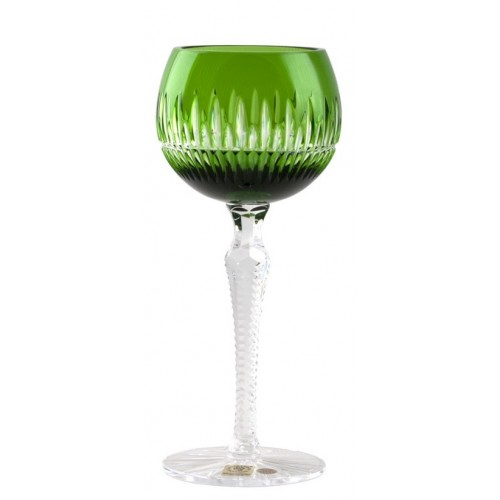 Thorn kristály borospohár, zöld színű, űrmértéke 190 ml