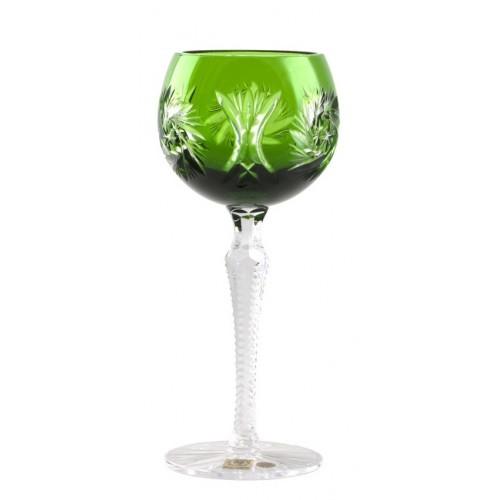 Pinwheel kristály borospoharak, zöld színű, űrmértéke 190 ml