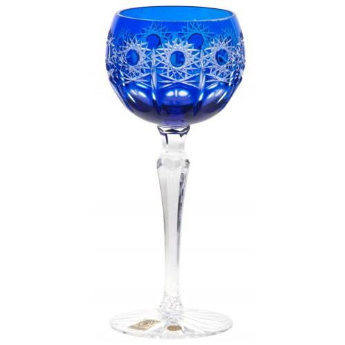 Petra kristály borospohár, kék színű, űrmértéke 190 ml