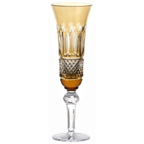 Tomy kristály pezsgőspohár, borostyán színű, űrmértéke 155 ml