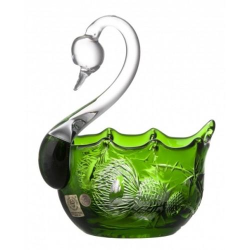 Thistle kristály hattyú, zöld színű, átmérője 116 mm