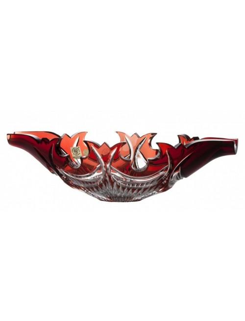 Diadém kristálytál, rubinvörös színű, átmérője 300 mm