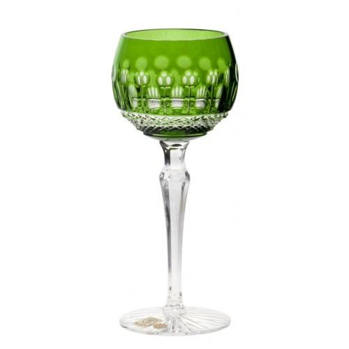Tomy kristály borospohár, zöld színű, űrmértéke 190 ml