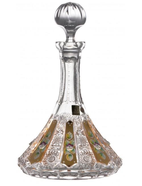 500K Arany kristály díszüveg, áttetsző kristály színű, űrmértéke 1050 ml