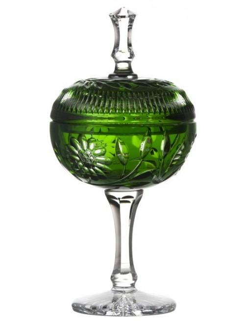 Garden kristálypohár, zöld színű, magassága 315 mm