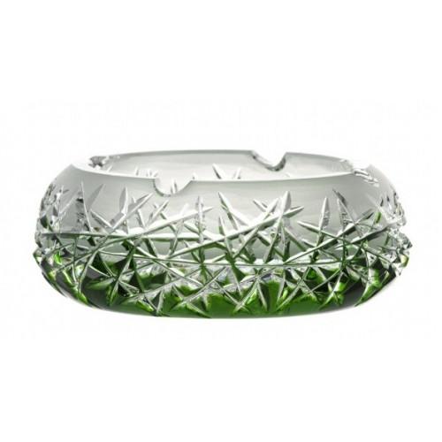 Hoarfrost kristály hamutál, zöld színű, átmérője 155 mm