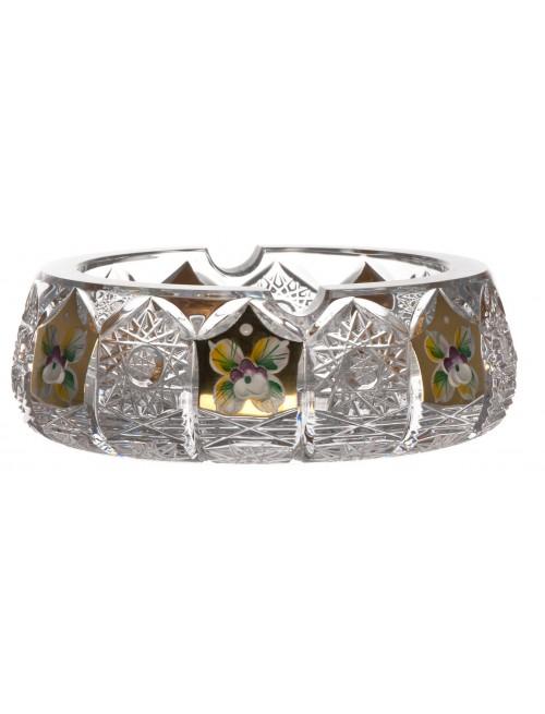 500PK Arany kristály hamutál, áttetsző kristály színű, átmérője 150 mm