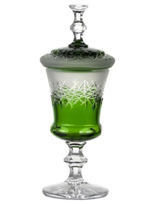 Hoarfrost kristálypohár, zöld színű, magassága 395 mm