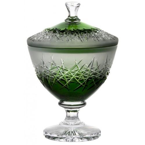 Hoarfrost kristályurna, zöld színű, magassága 260 mm