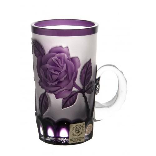 Rózsák kristálycsésze, lila színű, űrmértéke 100 ml