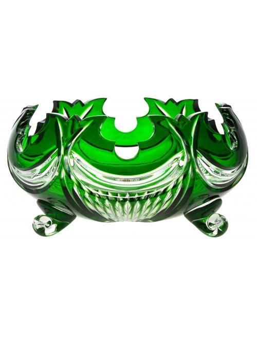 Diadem kristálytál, zöld színű, átmérője 255 mm
