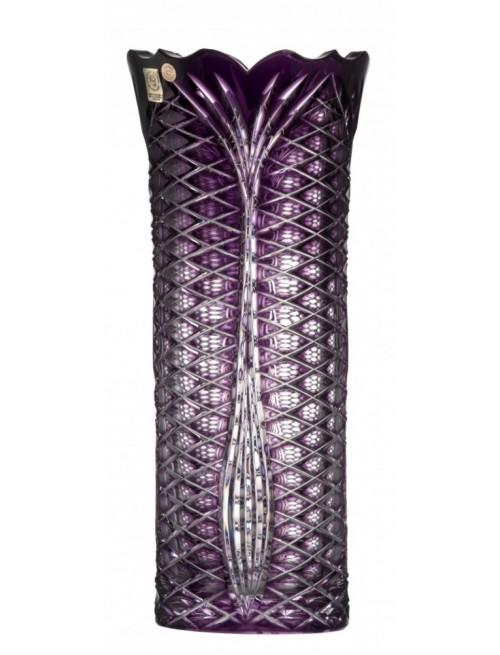 Ankara kristályváza I, lila színű, magassága 310 mm