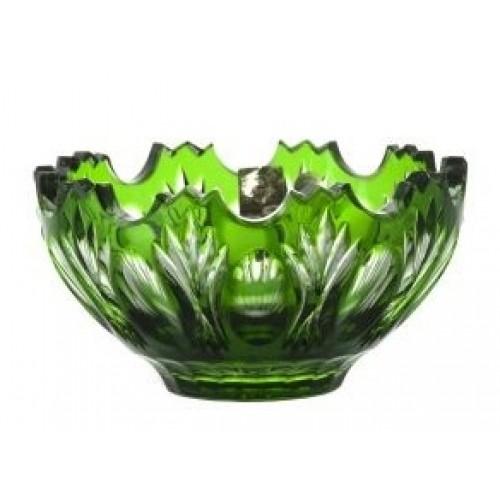 Dandelion kristálytálka, zöld színű, átmérője 130 mm