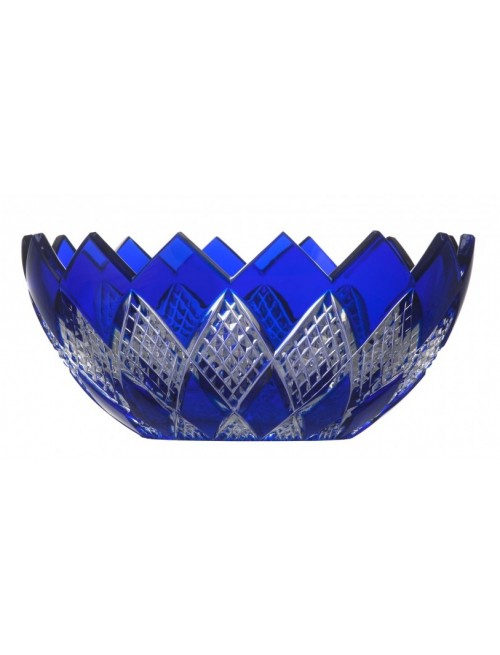 Colombine kristálytál, kék színű, átmérője 250 mm