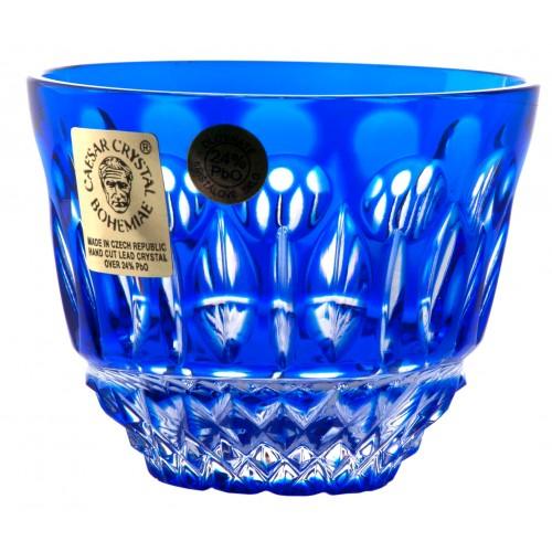 Tomy kristálypohár, kék színű, űrmértéke 65 ml