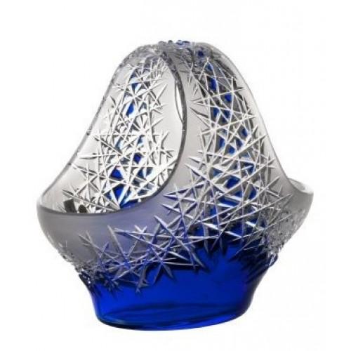 Hoarfrost kristálykosár, kék színű, átmérője 255 mm