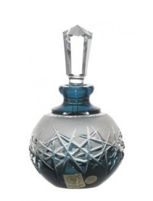 Hoarfrost kristály cseppentős parfümös üveg, azúr színű, űrmértéke 100 ml