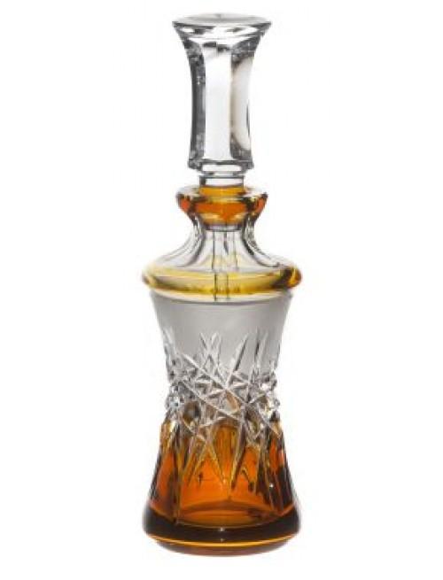 Hoarfrost kristály cseppentős parfümös üveg, borostyán színű, űrmértéke 90 ml