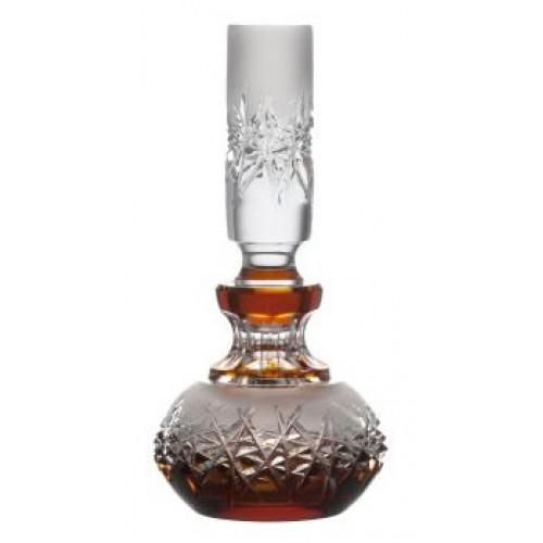 Hoarfrost kristály cseppentős parfümös üveg, borostyán színű, űrmértéke 130 ml