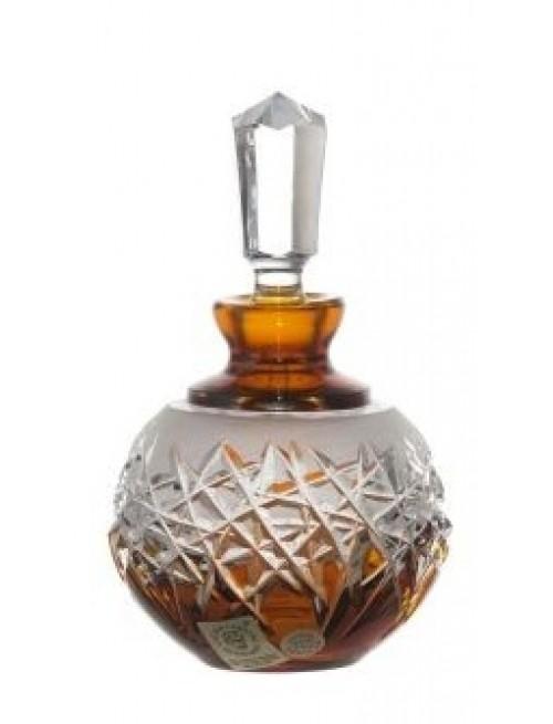 Hoarfrost kristály cseppentős parfümös üveg, borostyán színű, űrmértéke 100 ml