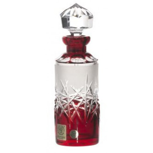 Hoarfrost kristály parfümös üveg, rubinvörös színű, űrmértéke 90 ml