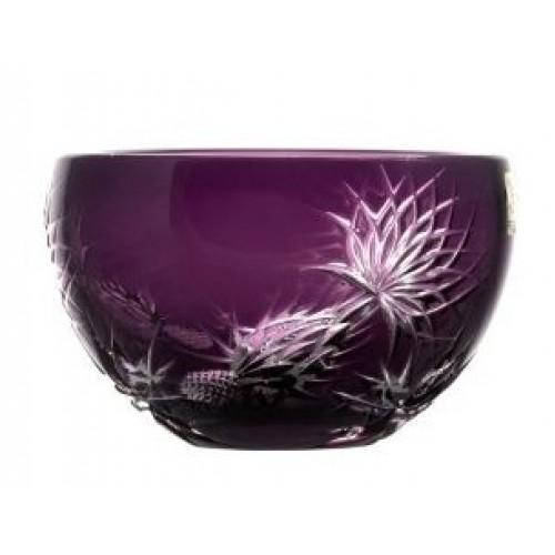 Thistle kristálytálka, lila színű, átmérője 140 mm
