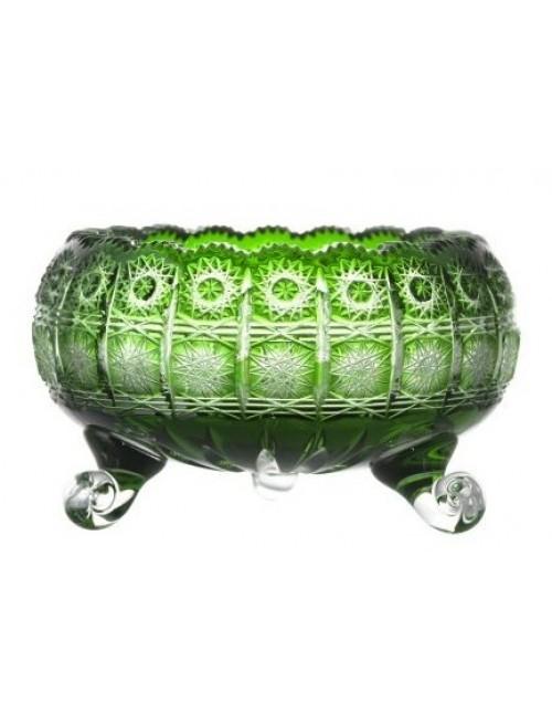 Paula II kristálytál, zöld színű, átmérője 205 mm