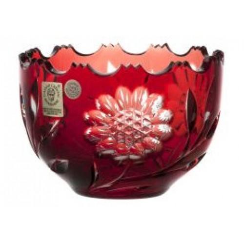 Garden kristálytálka, rubinvörös színű, átmérője 110 mm