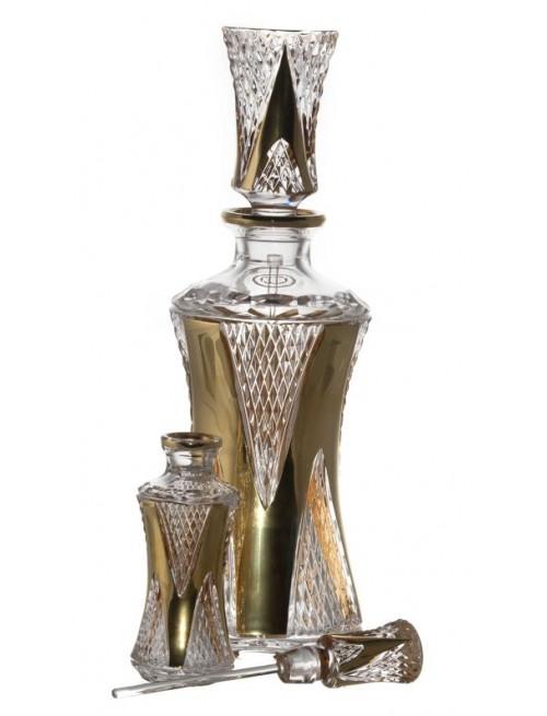 Arany Levél kristály cseppentős parfümös üveg, áttetsző kristály színű, űrmértéke 750 ml
