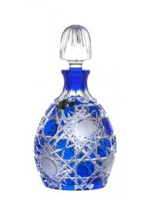 Flake kristály díszüveg, kék színű, űrmértéke 700 ml