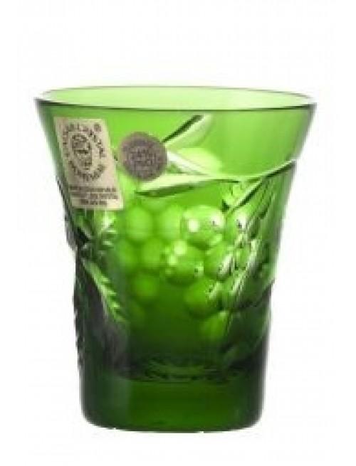 Grapes kristálypohár, zöld színű, űrmértéke 45 ml