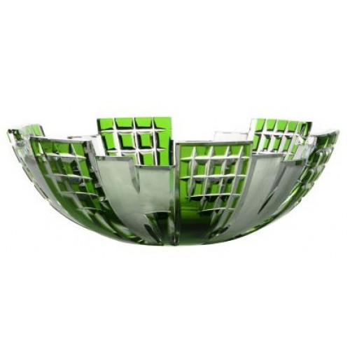 Metropolis kristálytál, zöld színű, átmérője 180 mm