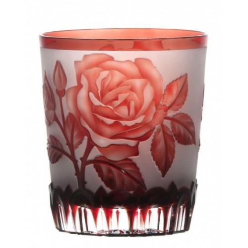 kristálypohár Rózsa, rubinvörös színű, űrmértéke 290 ml