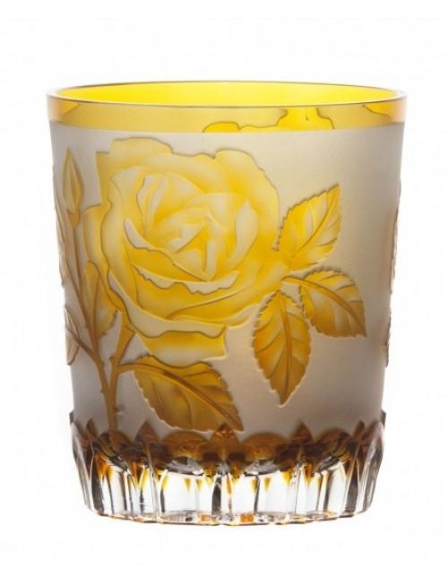 kristálypohár Rózsa, borostyán színű, űrmértéke 290 ml