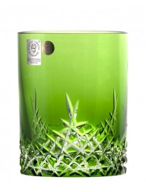 New Milenium kristálypohár, zöld színű, űrmértéke 320 ml