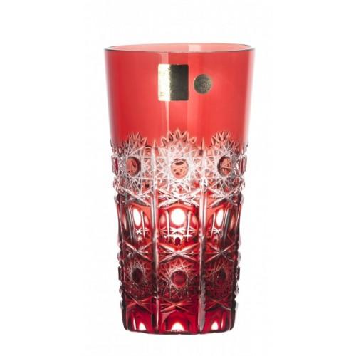 Petra kristálypohár, rubinvörös színű, űrmértéke 320 ml