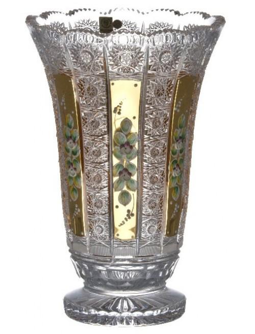 500K Arany kristályváza, áttetsző kristály színű, magassága 305 mm