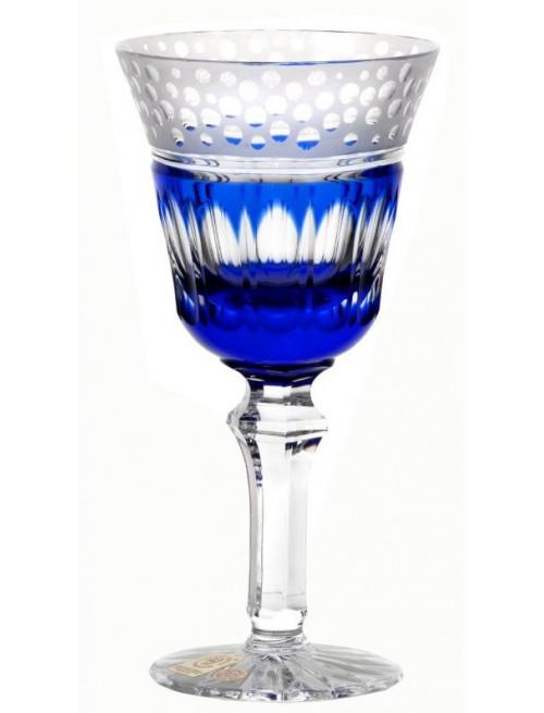 Dalmatta kristály borospohár, kék színű, űrmértéke 240 ml