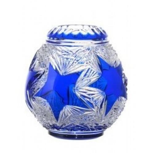 Stella kristályurna, kék színű, magassága 135 mm