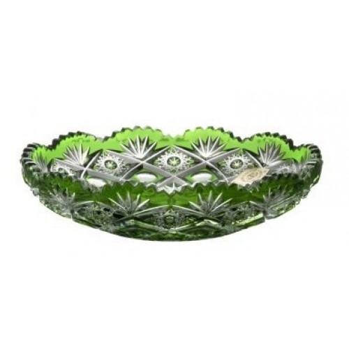 Daniel kristálytányérik, zöld színű, átmérője 145 mm