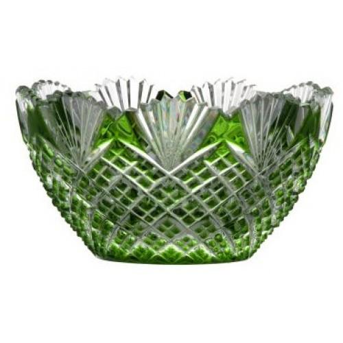 Pataya kristálytálka, zöld színű, átmérője 118 mm