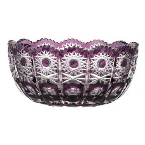 Petra kristálytál, lila színű, átmérője 155 mm