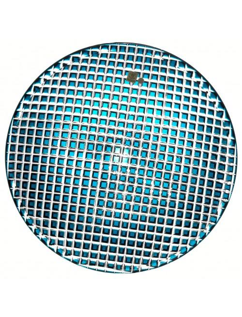Káro kristálytányér, azúr színű, átmérője 350 mm