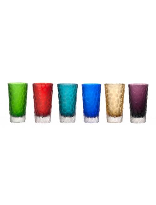 Kristály pohárkészlet, szín mix, űrmértéke 320 ml