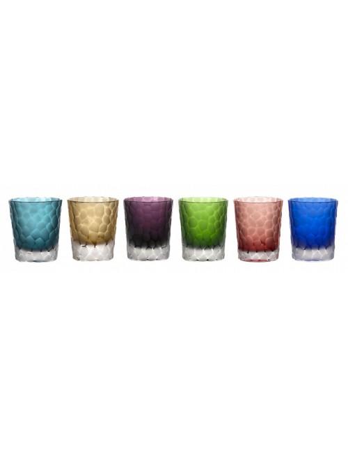 Whiskys kristálypohár készlet, szín mix, űrmértéke 290 ml